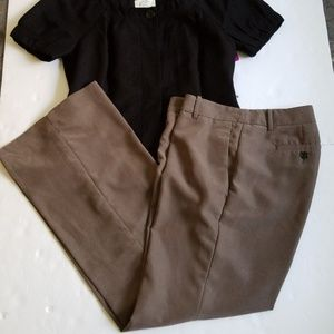Loft Dressy Casual Taupe Colored Pants Size 8 P